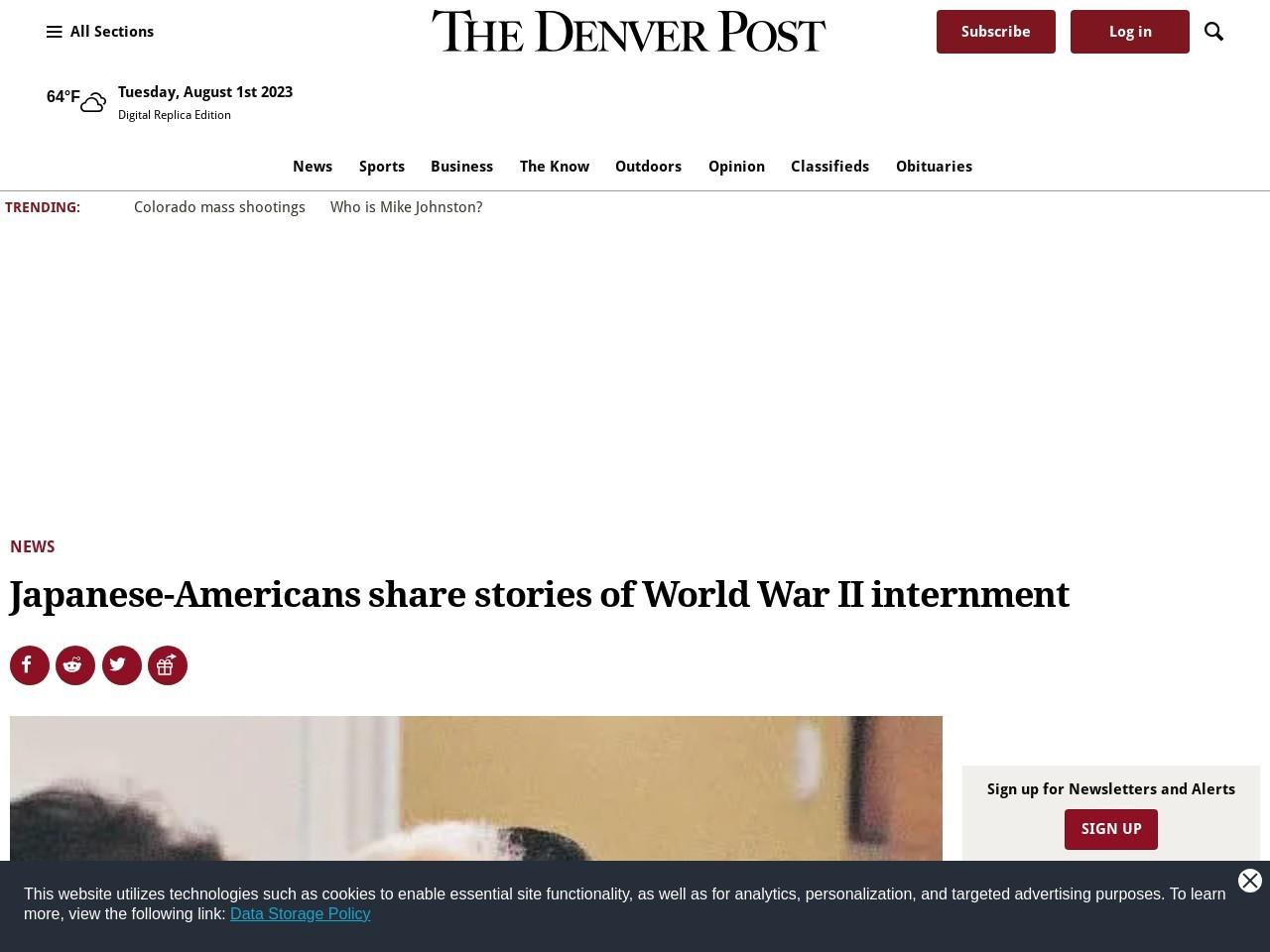 Japanese-Americans share stories of World War II internment