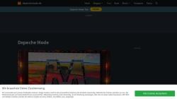 www.depechemode.de Vorschau, Depeche Mode Homepage