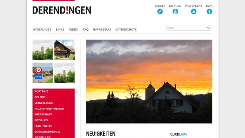 www.derendingen.ch Vorschau, Gemeinde Derendingen