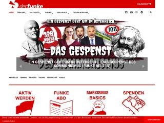 Screenshot der Website derfunke.at