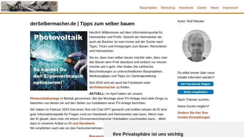 www.derselbermacher.de Vorschau, DerSelbermacher.de