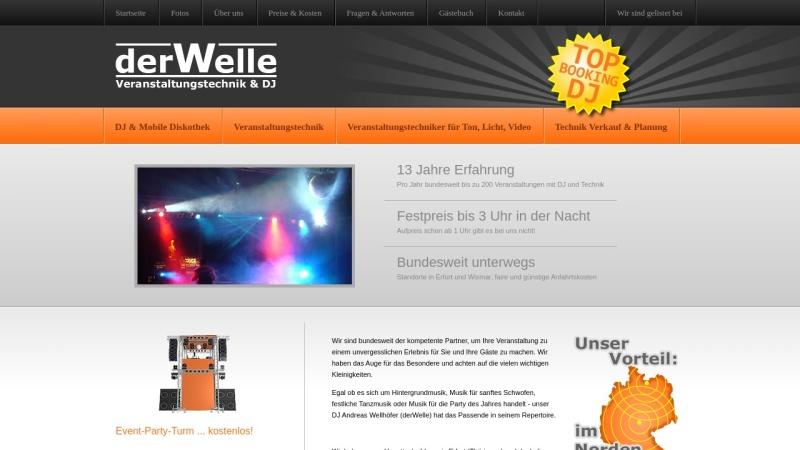 www.derwelle.de Vorschau, derWelle Veranstaltungstechnik & DJ
