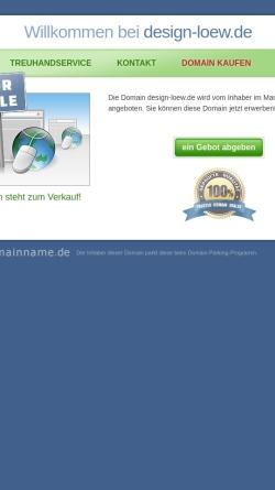 Vorschau der mobilen Webseite www.design-loew.de, Susanna Loew Schmuckgestaltung