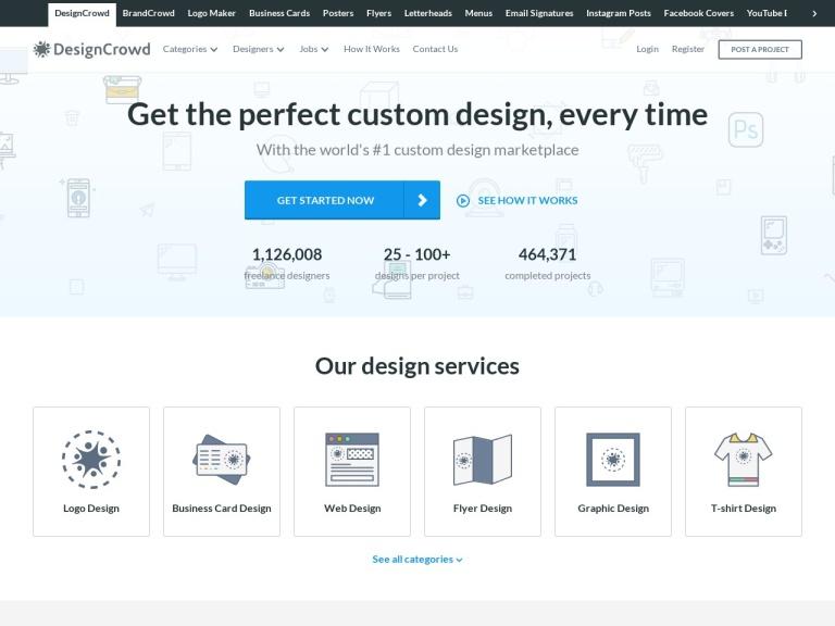 DesignCrowd Discount Code screenshot