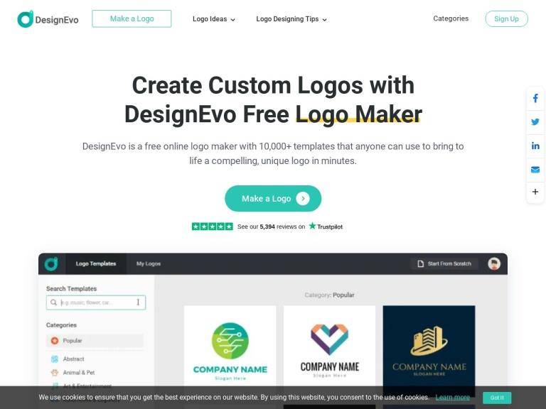 DesignEvo Coupon Codes screenshot