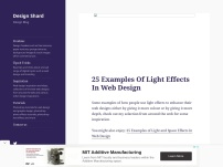 25 Examples Of Light Effects In Web Design