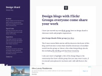 Design blogs with Flickr Groups