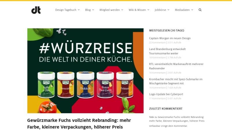 www.designtagebuch.de Vorschau, Design Tagebuch