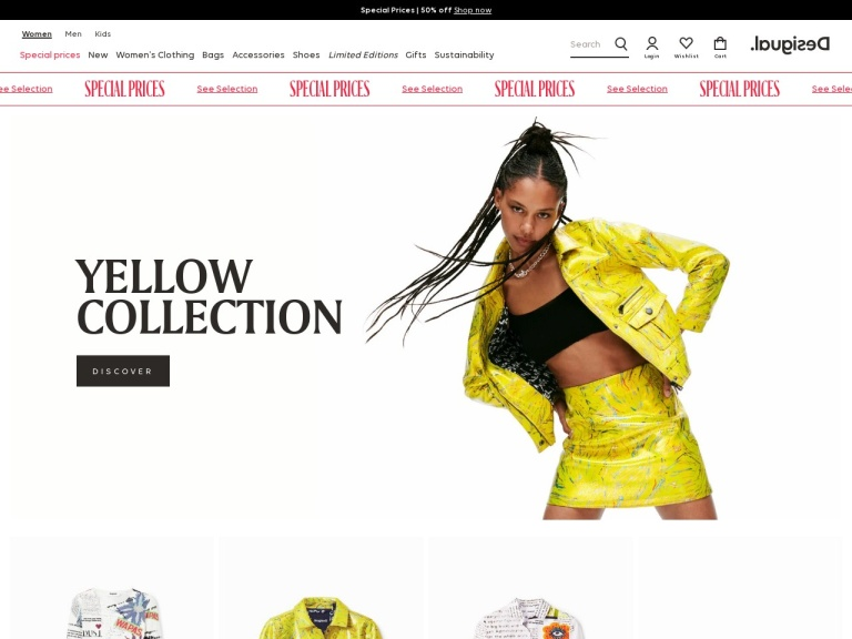 Desigual.com screenshot