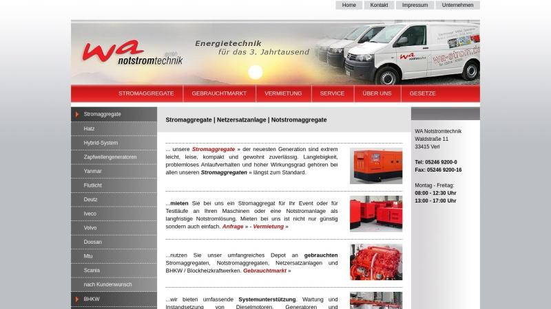 www.dev.de Vorschau, WA Notstromtechnik GmbH