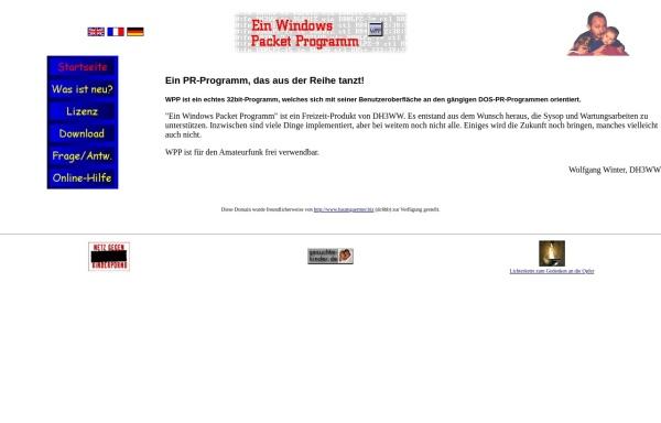 Vorschau von www.dh3ww.de, WPP - Ein Windows Packet Programm