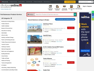 Screenshot for dholpuronline.in