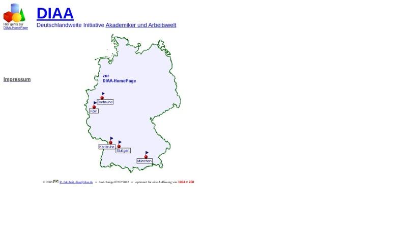 www.diaa.de Vorschau, Dachverband der Initiativen Akademiker und Arbeitswelt [DIAA]