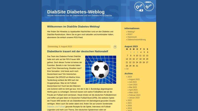 www.diabsite.de Vorschau, DiabSite Diabetes-Weblog