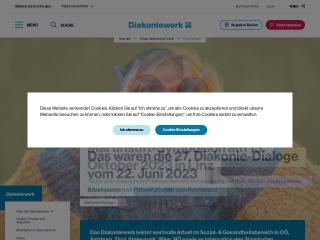 Screenshot der Website diakoniewerk.at
