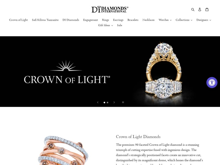 Diamonds International screenshot