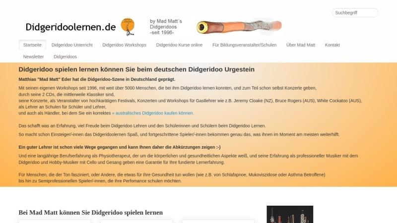 www.didgeridoolernen.de Vorschau, Didgeridoo lernen mit Mad Matt
