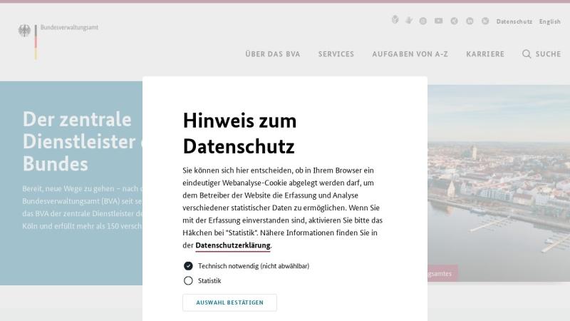 www.dienstleistungszentrum.de Vorschau, Bundesverwaltungsamt: Dienstleistungszentrum