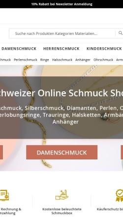Vorschau der mobilen Webseite www.dieschmuckwerkstatt.at, Die Schmuckwerkstatt
