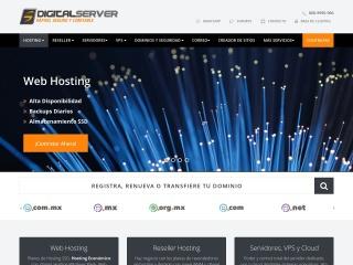 Captura de pantalla para digitalserver.com.mx