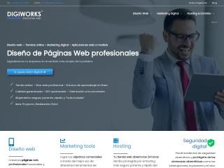 Captura de pantalla para digiworks.es