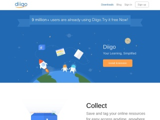 Screenshot for diigo.com