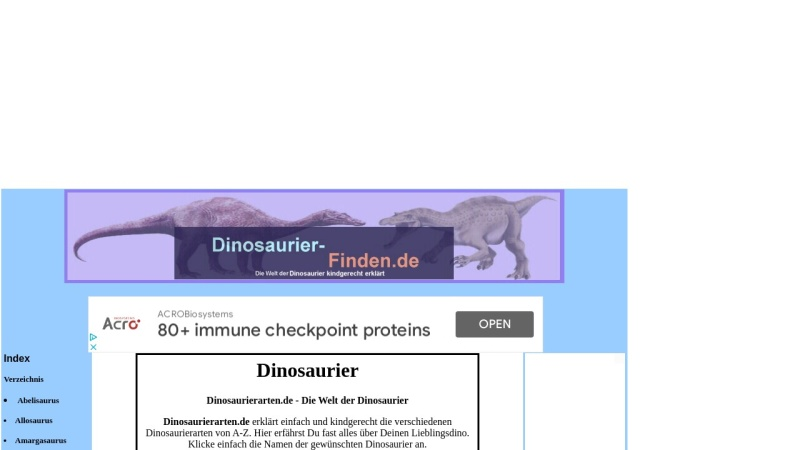 www.dinosaurierarten.de Vorschau, ABC der Dinosaurier