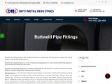 Buttweld pipe fittings manufacturers exporters suppliers importers By Dipti Metals