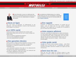 Capture d'écran pour directmutuelle.fr