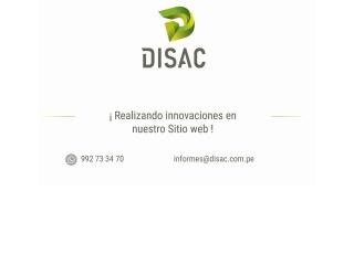 Captura de pantalla para disac.com.pe