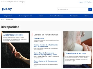 Captura de pantalla para discapacidad.gub.uy