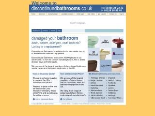 Screenshot for discontinuedbathrooms.co.uk