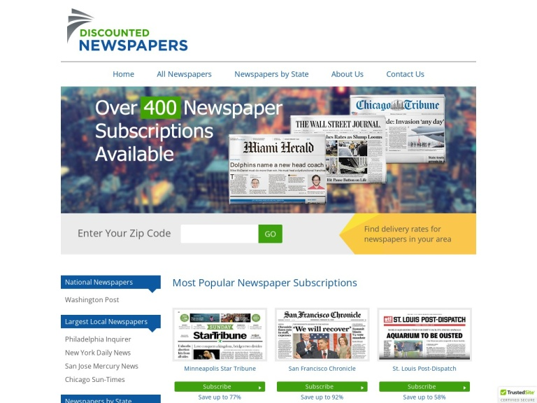 Newspaper Subscriptions Coupon Codes