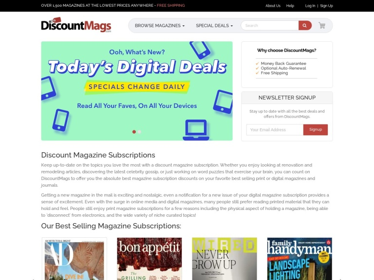 DiscountMags screenshot