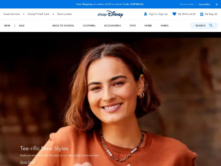DisneyStore screenshot
