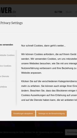 Vorschau der mobilen Webseite www.dj-tim-hannover.de, DJ Tim