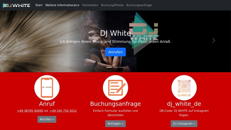 www.dj-white.de Vorschau, DJ White