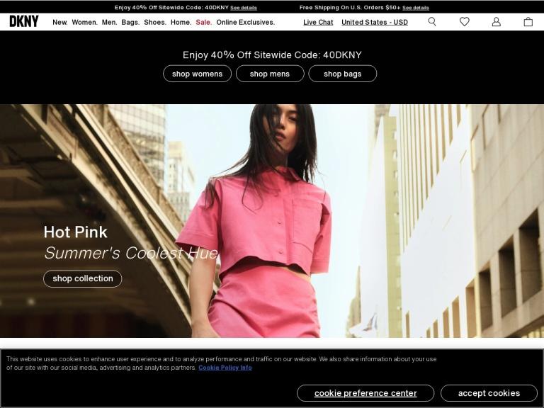 DKNY Coupon Code screenshot