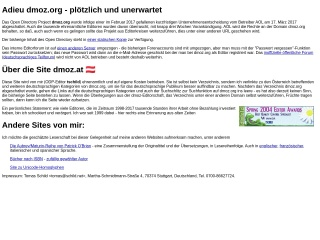 Screenshot der Website dmoz.at