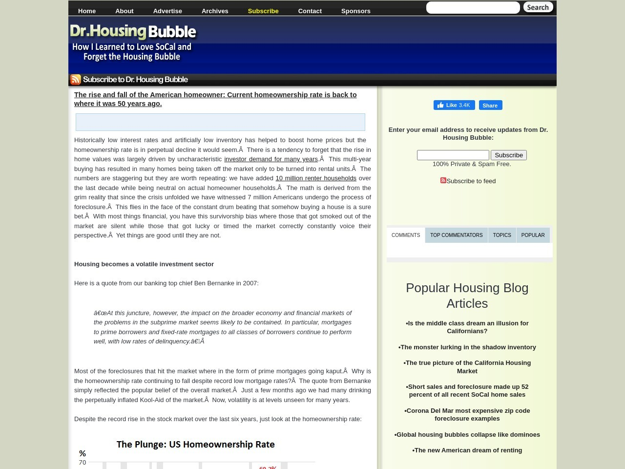 The rise and fall of the American homeowner – Dr. Housing …