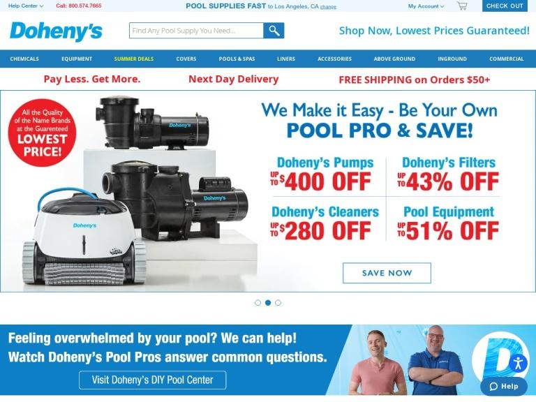 Dohenys Water Warehouse screenshot