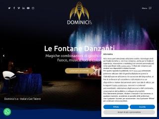 screenshot dominicisfontanedanzanti.it