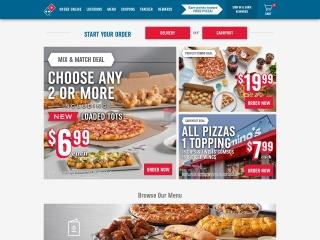 Capture d'écran pour dominos.com