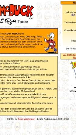 Vorschau der mobilen Webseite www.don-mcduck.de, Don McDuck