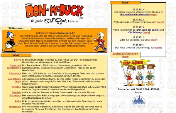 Vorschau von www.don-mcduck.de, Don McDuck
