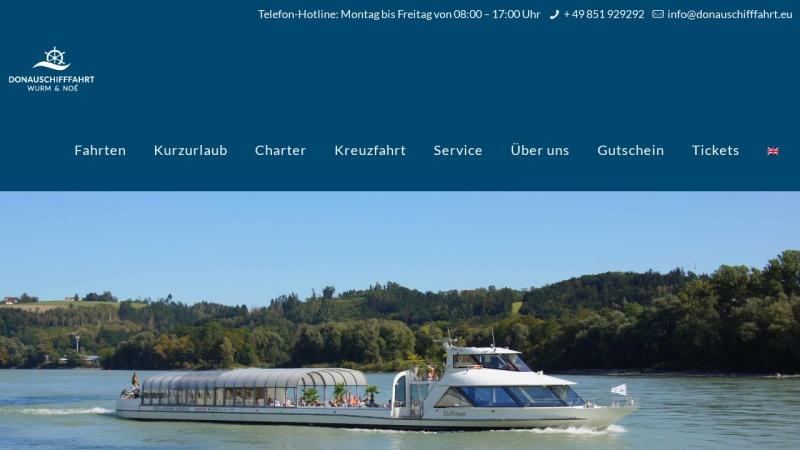 www.donauschiffahrt.de Vorschau, Donauschiffahrt Wurm und Köck