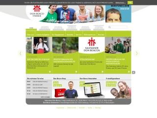 Screenshot der Website donbosco.at