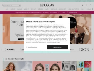Screenshot der Website douglas.de