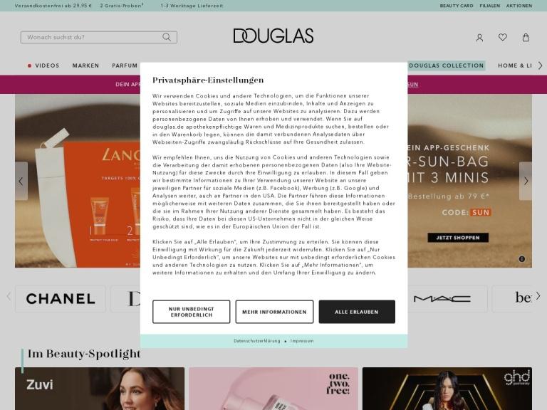 Douglas.de screenshot
