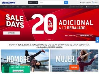 Captura de pantalla para dportenis.mx